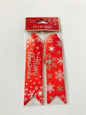 15 Christmas Gift Tags North Pole - Red Tags
