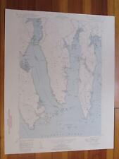 Petit Manan Point Maine 1950 Original Vintage USGS Topo Map