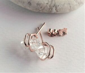 Herkimer Diamond Simple and Stunning Stud Earrings