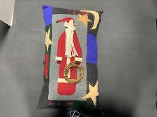 "Holiday Santa W Stars Pillow 18"" X 11"""