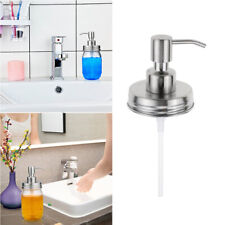 Stainless Steel Soap Lotion Dispenser Lids Pump Tube For Mason Jar Cover Access