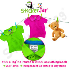 STICK-A-TAG® Stick On CLOTHING Name Labels No Iron / No Sew School Uniform ST01