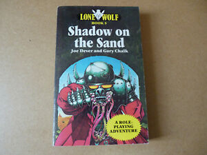 Shadow on the Sand. Lone Wolf book 3. By Joe Dever  First Edition 1985