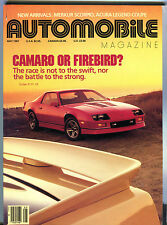 Automobile Magazine May 1987 Camaro Or Firebird? EX 040416jhe