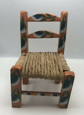 7 .5  Inch Tall  Small Wood Doll Toy Or Prop Chair