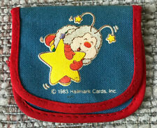 "VINTAGE RAINBOW BRITE SMALL 3""x3"" CLOTH COIN PURSE WITH SNAP HALLMARK 1983"