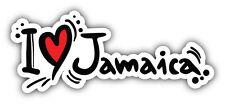 I Love Jamaica Slogan Car Bumper Sticker Decal 6'' x 3''