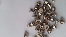 CraftbuddyUs 20 9mm Silverscrew Spikes Punk Rock Leather Bag Shoe Studs
