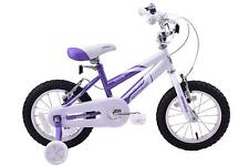 "Ammaco Misty Girls BMX Kids Bike 14"" Wheel Purple/White With Stabilisers Age 4+"