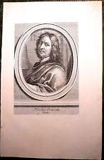 Burin, Ecole Française, Portrait de Nicolas Poussin