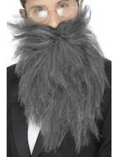 Grey Long Beard And Tash Old England Gentleman Fancy Dress Accessory