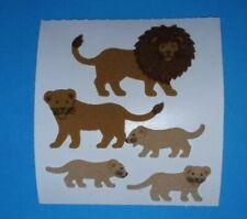🦁💜Sandylion ein Abriss Löwen Fuzzy Stoff Scrapbooking Sticker 90er💜🦁