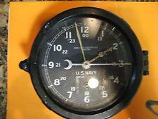 19401944 Wwii U.S. Navy Chelsea Ships Clock Boston Military Antique 12E Movement