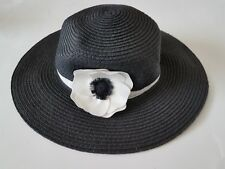 6 12M Janie And Jack French Voyage Hat Black White