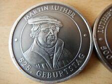 versilberte Medaille 525. Geburtstag Martin Luther- 500 Jahre Reformation