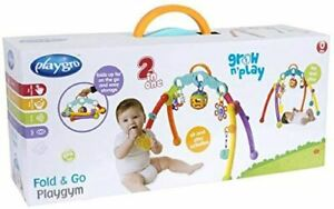 Playgro Junyju Fold and Go Activity Playgym, Detachable Toys, From 0 Months,