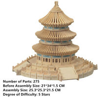 New Assembly DIY Education Toy 3D Wooden Model Puzzles Of China Temple Of Heaven