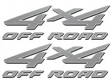 2002 - 2007 4x4 Decals for Ford F-250 HD F-350 Super Duty Truck Bedside - Silver