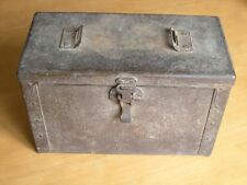 "Vintage WWI / WWII Metal Ammunition / Ammo Box Chest 6x12x8 "" Great Vintage Cond"