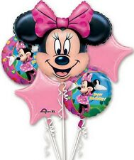 Disney Minnie Mouse 5 Birthday Mylar Bouquet Balloons Party Decoration Set