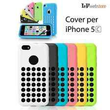 COVER CUSTODIA PER APPLE IPHONE 5C 5S SILICONE FLESSIBILE TPU CASE CON PELLICOLA