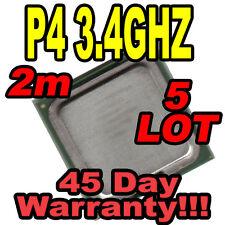5 LOT CPU P4 775 3.4 GHZ 2MB 800MHZ FSB SL7Z7