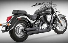 Vance & Hines Twin Slash Staggered Exhaust System Black YAMAHA Stryker 11-15