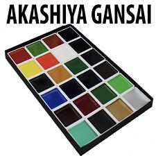 Akashiya Gansai Watercolour Paint Sets 12 or 24 set Traditional Japanese