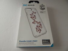 Speck Products Presidio Clear + Print Case for iPhone 8/7/6s/6 Butterflies/Clear