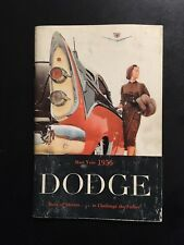 1956 Dodge Owners Manual.