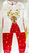 Carter's Baby Girl 18M Pajamas 2 Pc Christmas Snug Fit Reindeer Cotton Red Nwt