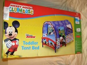 Delta Disney Junior Mickey Mouse Plastic Toddler Tent Bed Blue Brand New in Box