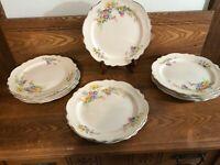 "Vintage~Homer Laughlin~Set 12~Virginia Rose~9 1/4"" Dinner Plates"