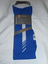 1 Pair Champion Correct Fit  Basketball Crew Socks Arch Support Blue 6-12