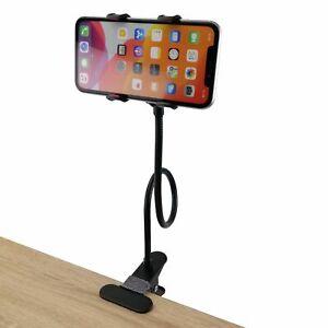Handy-Halterung Schwanenhals mit Tisch/Bett-Klemme 45cm Handyhalter Smartphone
