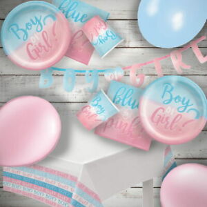 Baby Shower The Big Reveal Boy or Girl Party Supplies Tableware, Decorations