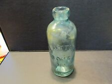 S38 VINTAGE GREEN GLASS MINERAL WATER EMPIRE STATE HENNESSY & NOLAN ALBANY NY