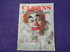 CLOWNS AND CHARACTERS#62, ART INSTRUCTION BOOK,by LEON FRANKS