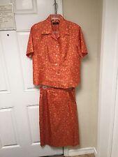 Vintage Jim Thompson Silk Evening Party Dress Skirt Blouse Outfit Size 12