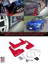 Rally Armor UR Series Red Mud Flaps w/ White Logo for 2015-2020 WRX & STI