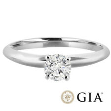 Diamant Ring Solitär 0,25 Ct. D IF Brillant Ring 750 18K Weißgold GIA Expertise