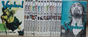 Vagabond 16 Volumes by Takehiko Inoue Manga in English Graphic Novel New Lot