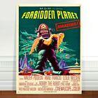 "Vintage Sci-fi Movie Poster Art ~ CANVAS PRINT 36x24"" Forbidden Planet"