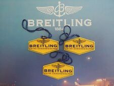 BREITLING FACTORY SALES JEWELERS WATCH YELLOW PLASTIC HANG TAG ALL OLDER MODELS