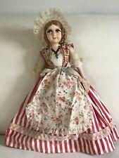 "Vintage French Boudoir Doll Au Nain Bleu Traditional Boulogne Costume 18"""