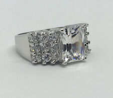 BEAUTIFUL!!~925 Sterling Silver ~ ROMAN C-Z Cocktail Ring~ 7.9g /  Size 6  #239