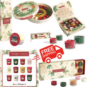 Yankee Scented Fragrance Home Tea Candle Christmas Collection Present Gift Sets