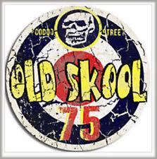 Old Skool Adesivo, Mod, stile retrò, scooter, tortello, 1975, Teschio, impermeabile