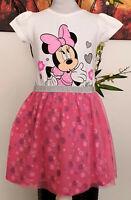 Kinder Mädchen Kleid Gr. 104-134 Diseny Minnie Mouse  Sommerkleid Kinderkleid