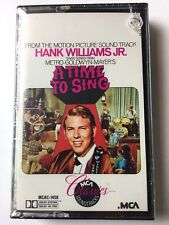 "HANK WILLIAMS JR. CASSETTE "" A TIME TO SING SOUNDTRACK""  NEW & SEALED"